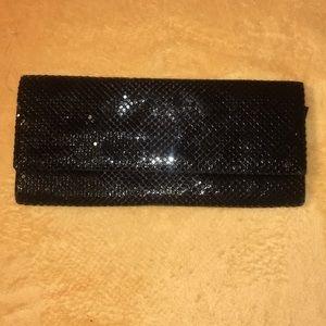 Black metallic clutch